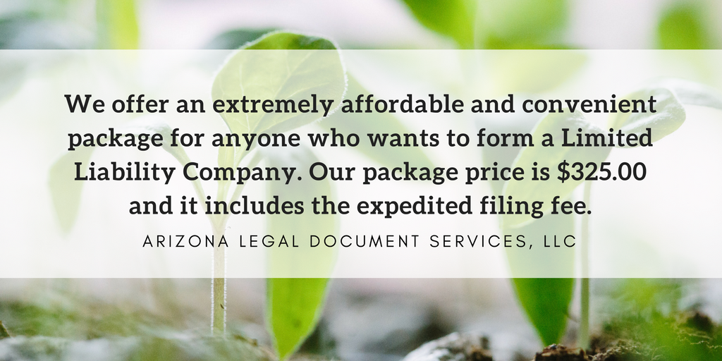 LLC Formation for only $325, which includes the expedited filing fee.