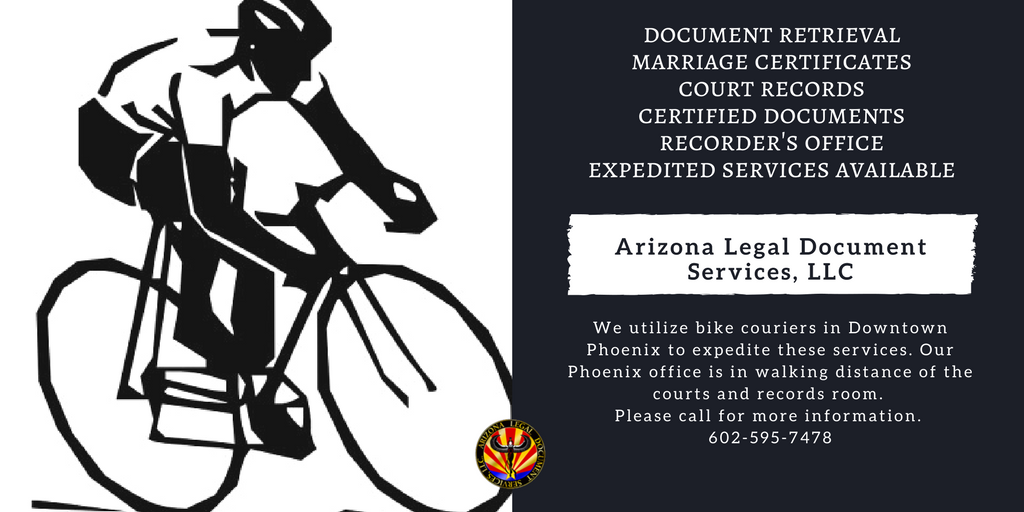Our Phoenix office is in walking distance of the courts and records room.