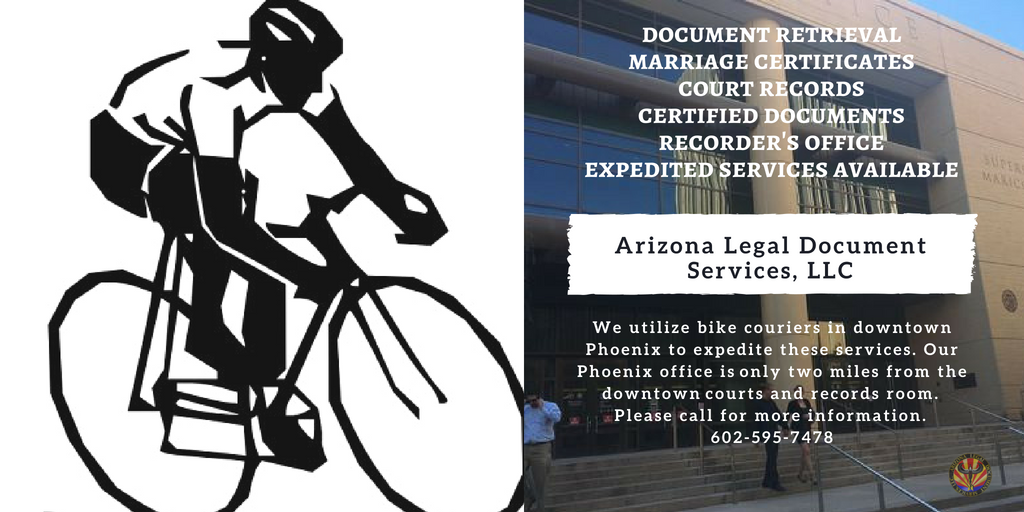 Document Retrieval: Certified Marriage Certificate, Certified Divorce Decree and other Court orders, Recorder's Office, Secretary of State